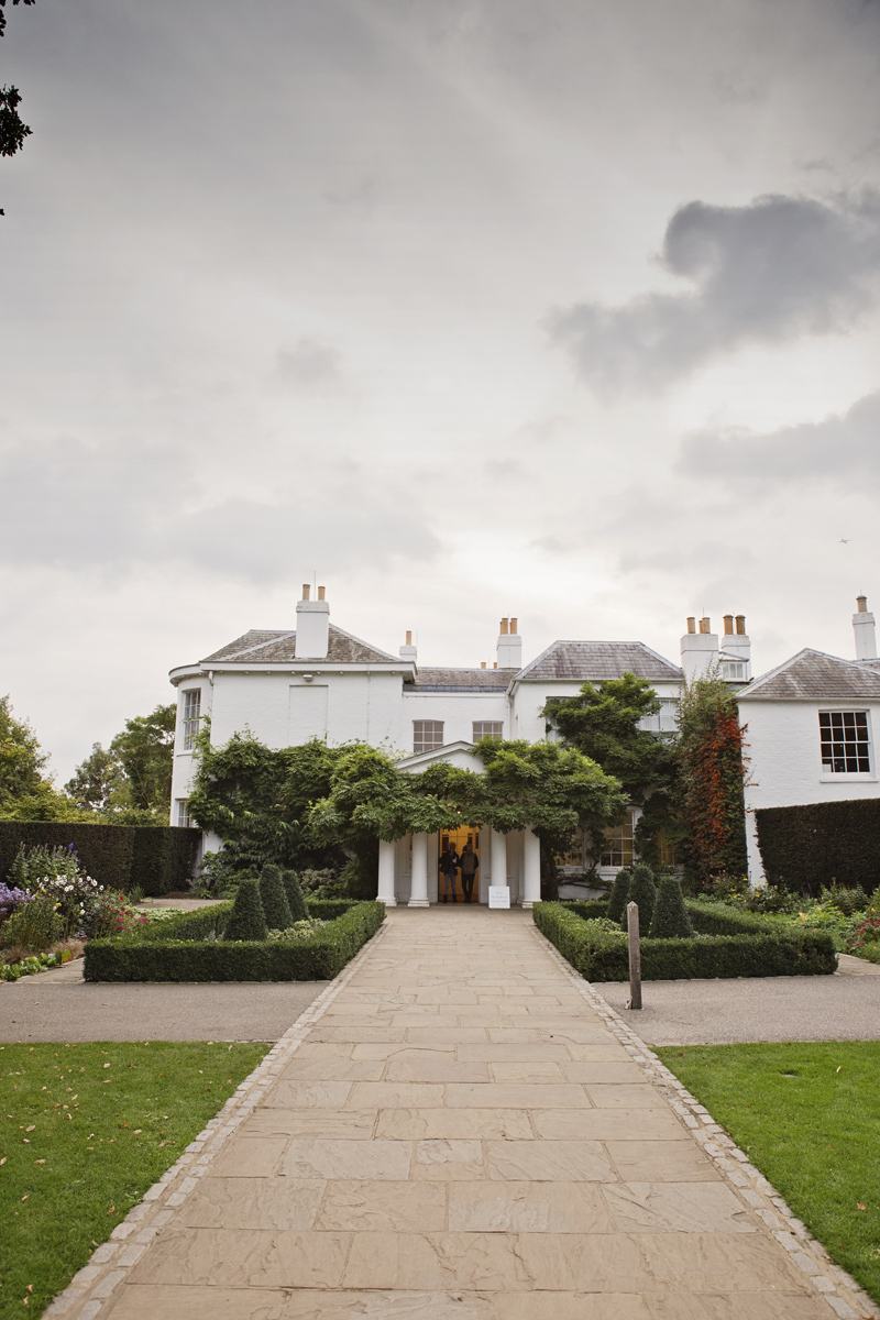 A wide shot of Pembroke Lodge in Richmond Park, Surrey